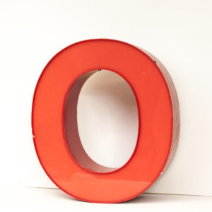Reclaimed Red Letter Light O
