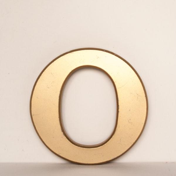 Reclaimed Gold Resin Letter O