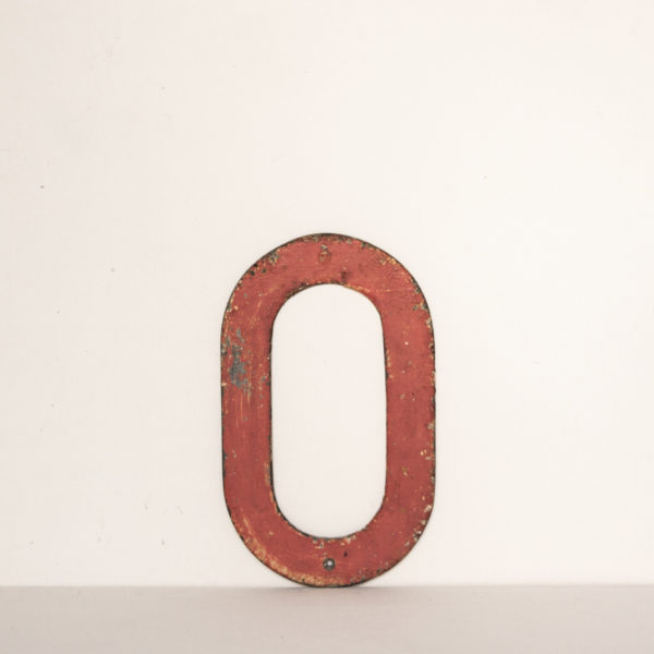 Reclaimed Pink Metal Letter O