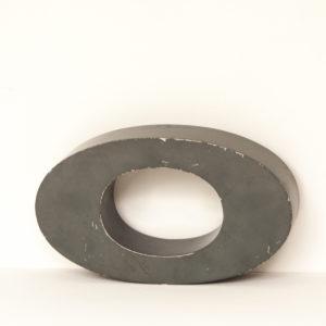 Reclaimed Grey Metal Letter O