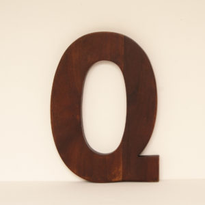 Reclaimed Wooden Letter Q