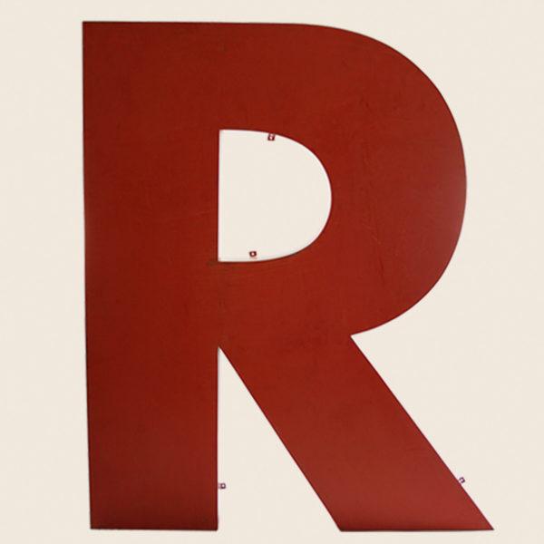 Giant Reclaimed Metal Letter R