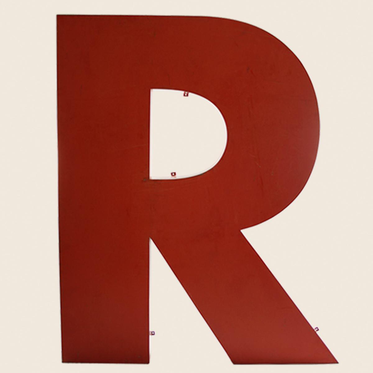 Giant Reclaimed Metal Letter R  U2013 Vintage Matters
