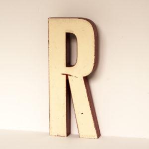 Reclaimed White Resin Letter R