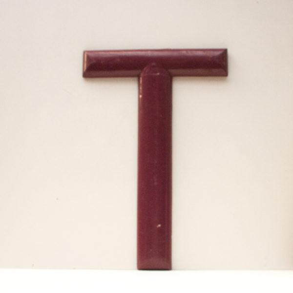 Large Reclaimed Purple Wooden Fairground Letter