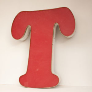 Reclaimed Red Letter Light T