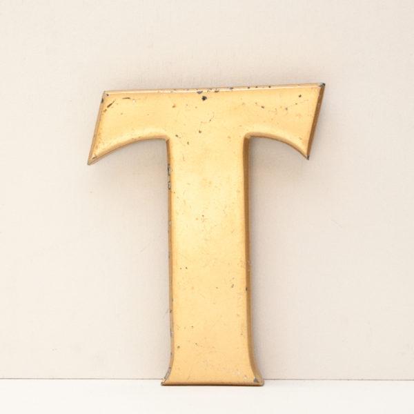 Reclaimed Gold Resin Letter T