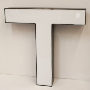 Large Reclaimed White Letter Light T