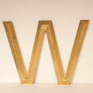 Large Reclaimed Gilt Letter W