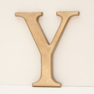 Reclaimed Gold Resin Letter Y