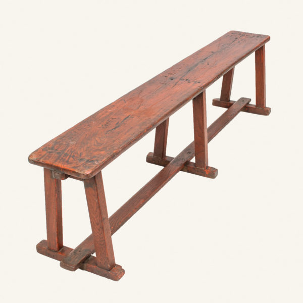 Vintage Painted Wooden Bench