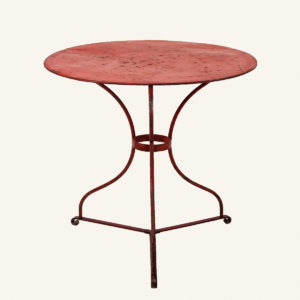 Vintage Red Bistro Table