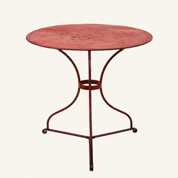 Vintage Red Bistro Table