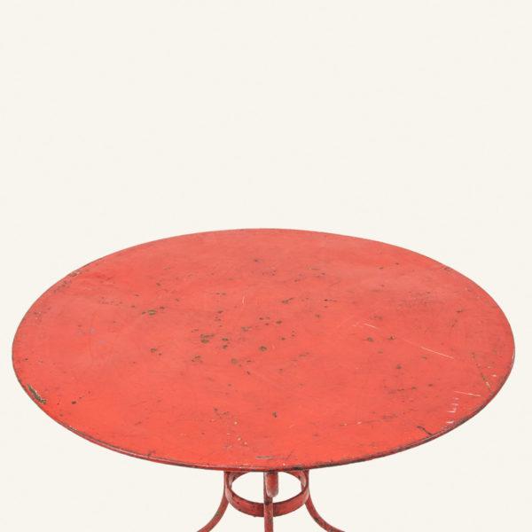 Vintage Red Bistrot Table
