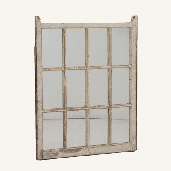 Vintage 12 Pane Window Mirror
