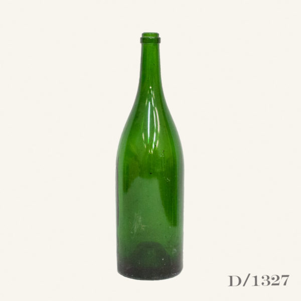 Oversized Vintage Green Glass Bottle