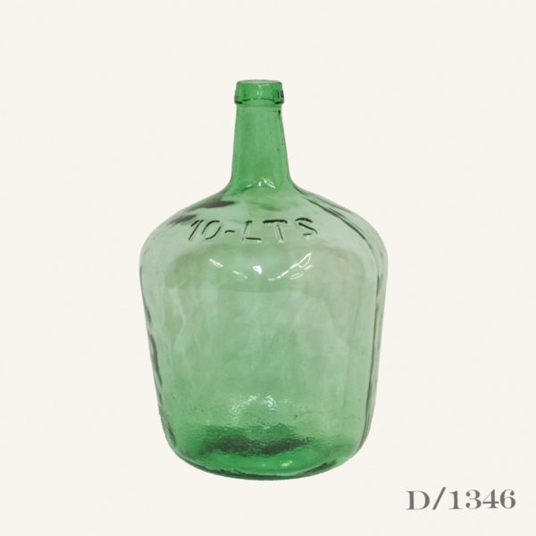 Vintage Green Glass Demijohn Carboy