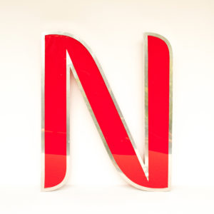 Reclaimed Red Letter Light N