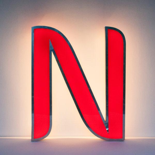 Reclaimed Red Letter Light A