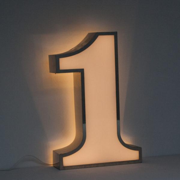 Reclaimed White Number One Light