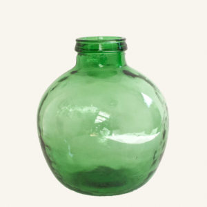 Vintage Green Glass Demijohn