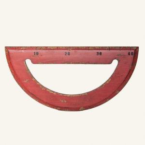 Vintage oversized wooden protractor