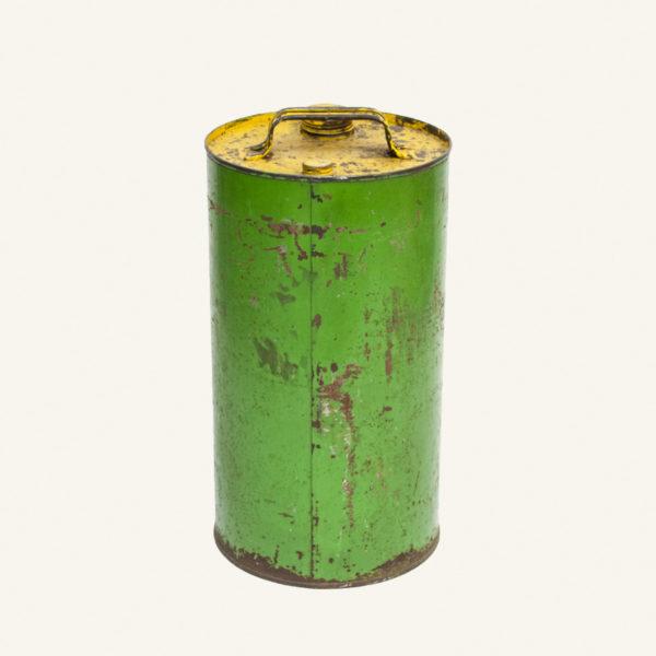 Vintage Green Metal Oil Can