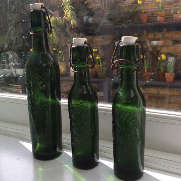 Set 3 Vintage French Soda Bottles