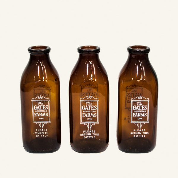 Set 3 Vintage American Milk Bottles