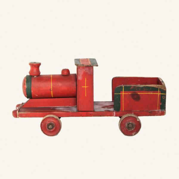 vintage wooden toy train decorative
