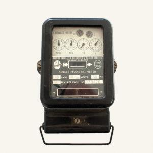 Vintage Bakelite Electricity Meter