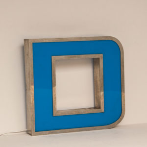 Reclaimed Blue Letter Light D
