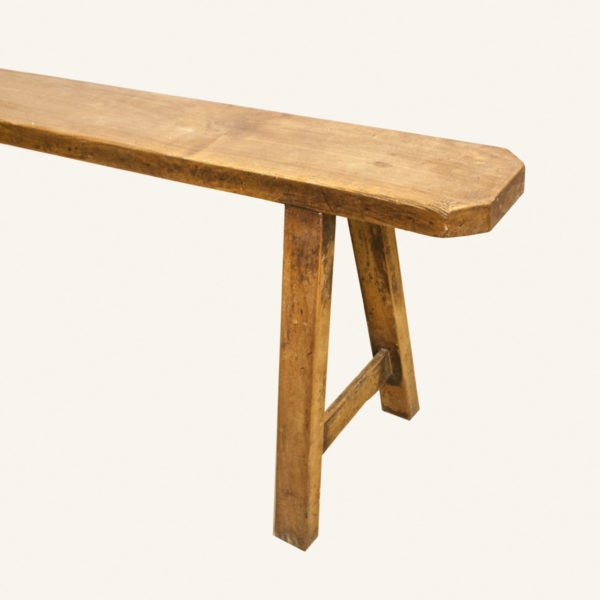 Vintage Fruitwood Bench