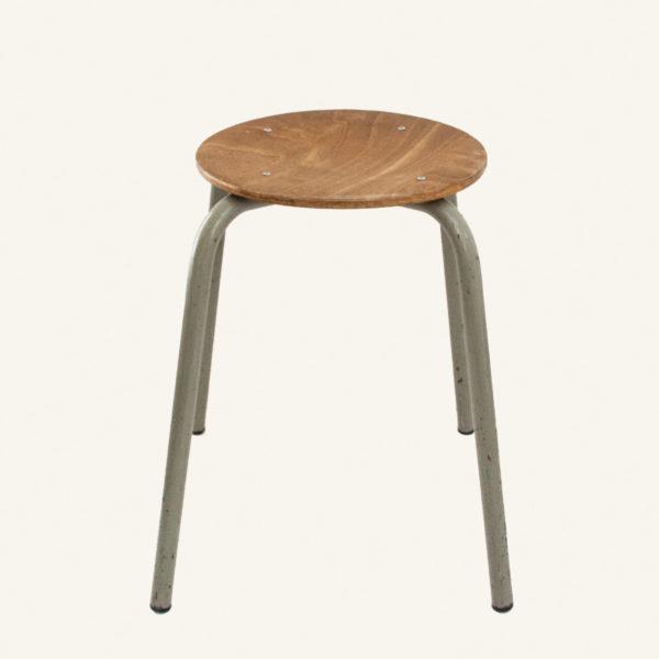 Set of 2 Vintage industrial round stools