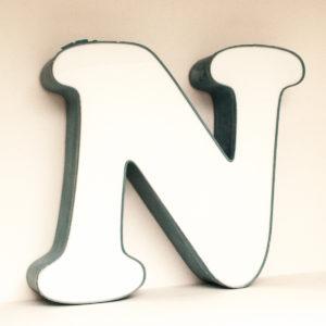 Large Reclaimed White Letter Light N
