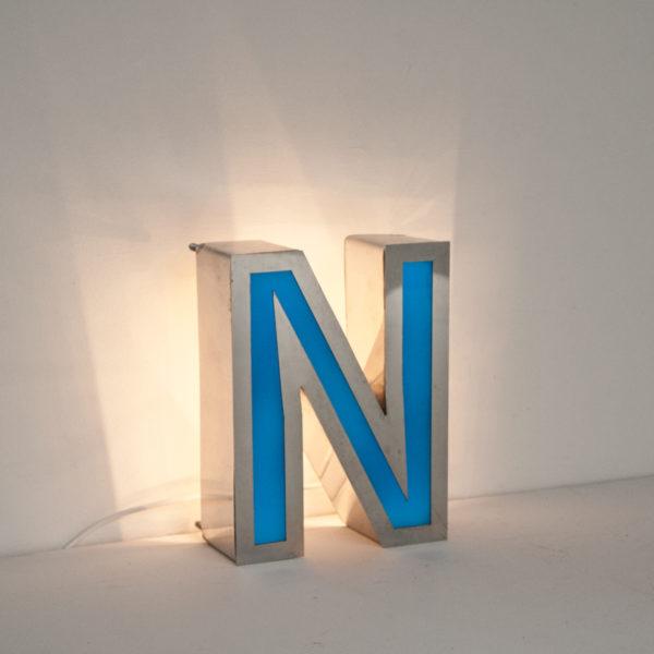 Reclaimed Small Letter Light N