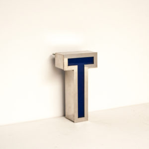 Reclaimed Small Letter Light T