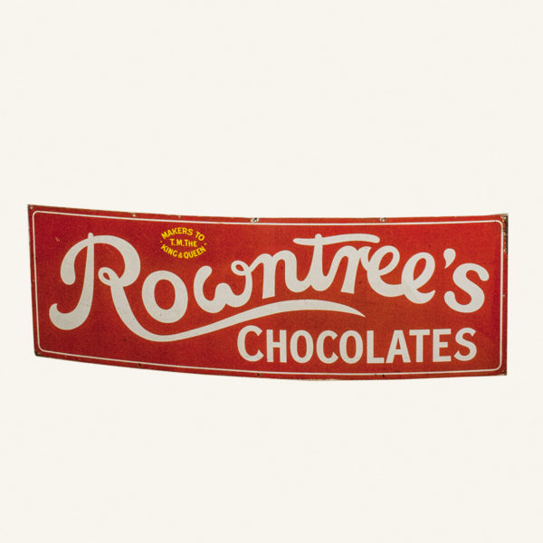 Vintage Rowntrees Chocolates Enamel Advertising Sign