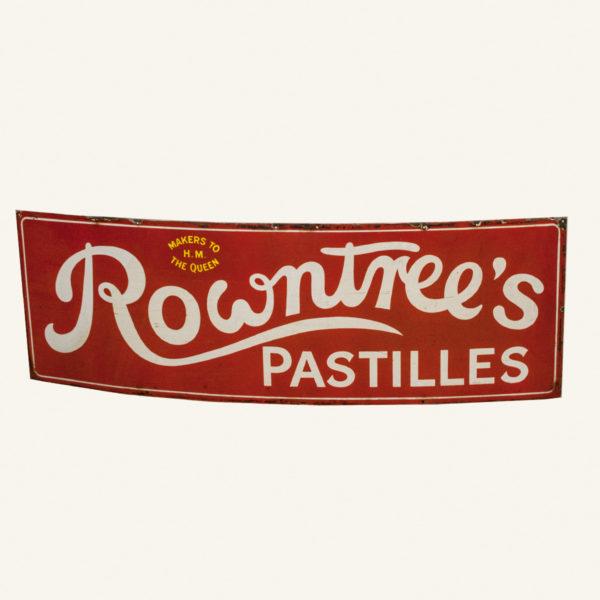 Vintage Rowntrees Chocolates Enamel Advertising Sign