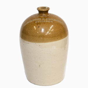 Large Vintage Stoneware Flagon