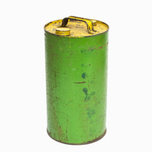 Vintage Green Metal Oil Can