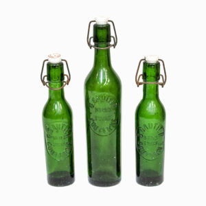 Set 3 Vintage French Soda Bottles