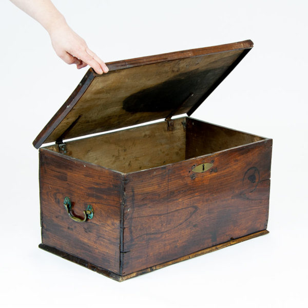 Antique Wooden Storage Chest