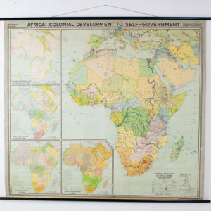 Giant Vintage Wall Map of Africa