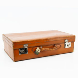 Vintage Antler Leather Suitcase