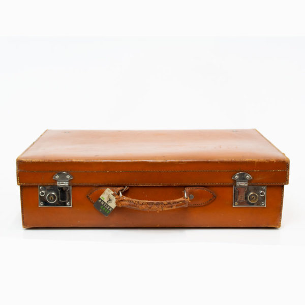 Vintage Antler Leather Suitcase