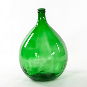Large Vintage Green Glass Demijohn