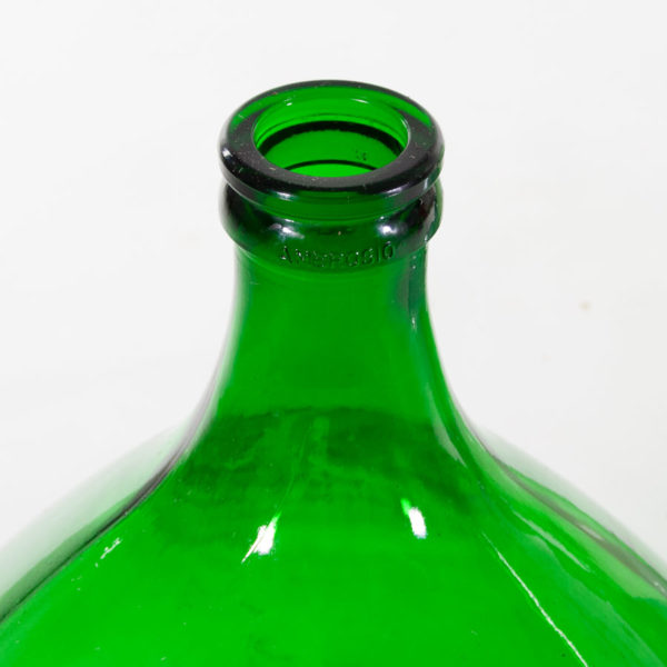 Large Vintage Green Glass Demijohn