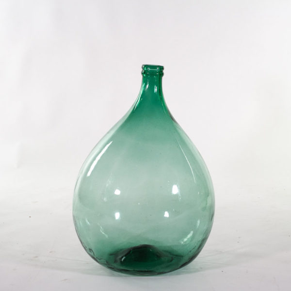 Vintage Green Glass Demijohn