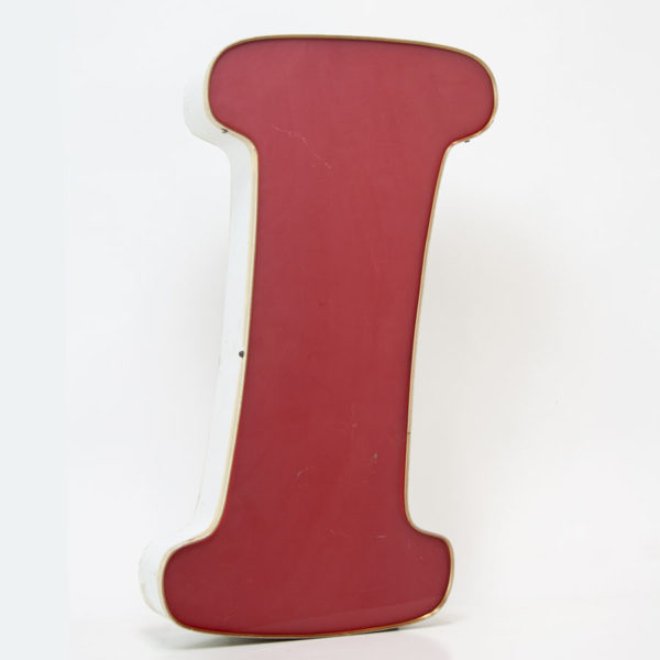 Reclaimed Red Letter Light I